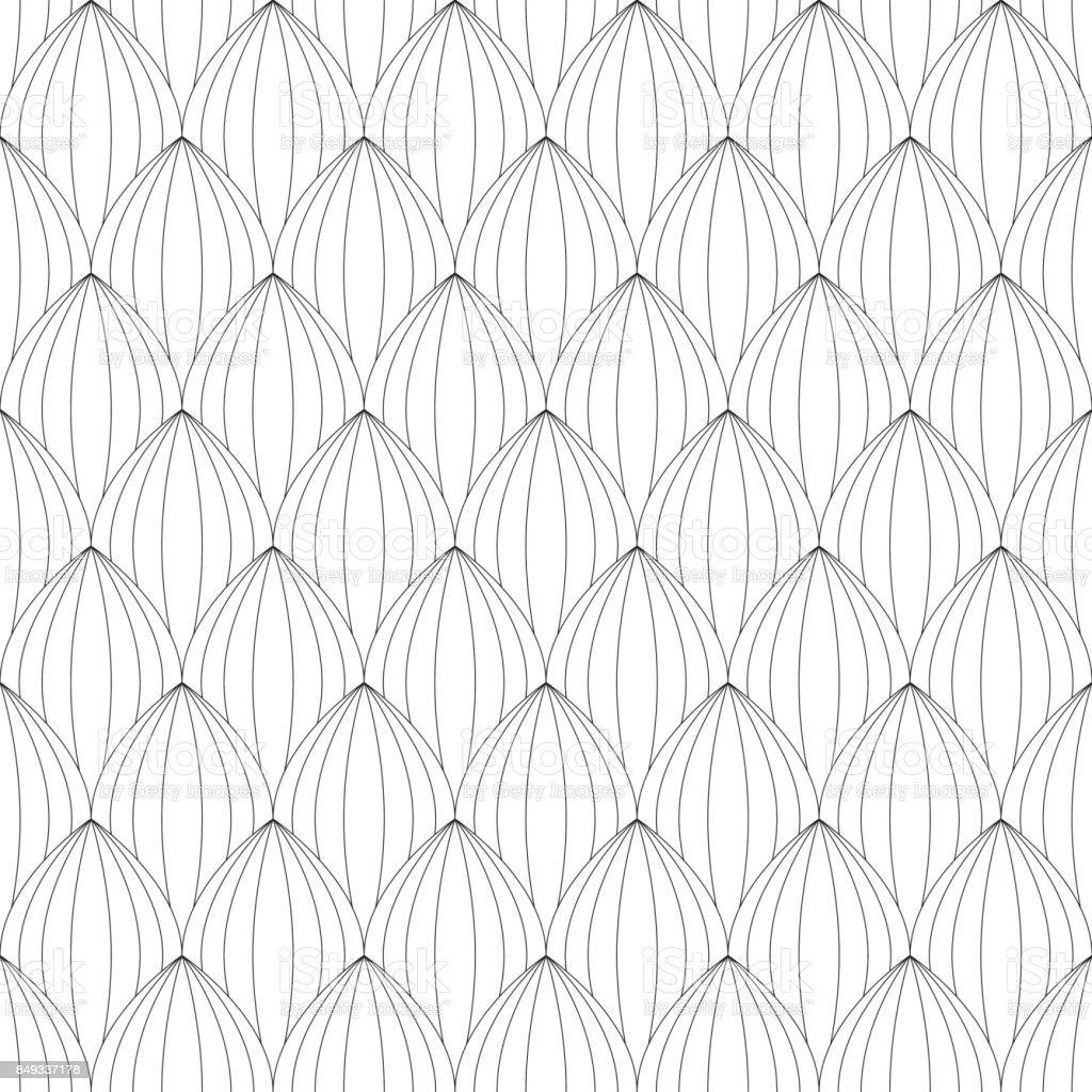 Kleurplaten Voor Volwassenen Tegels.Bladeren Lineaire Naadloze Patroon Kleurplaten Voor Volwassenen