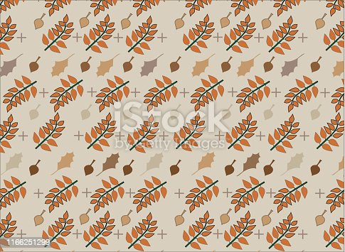 istock Leaves Pattern Warm-Series 1 1166251299