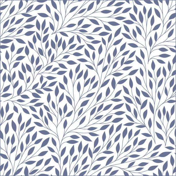 ilustraciones, imágenes clip art, dibujos animados e iconos de stock de hojas de patrones sin fisuras. - fondos de hojas