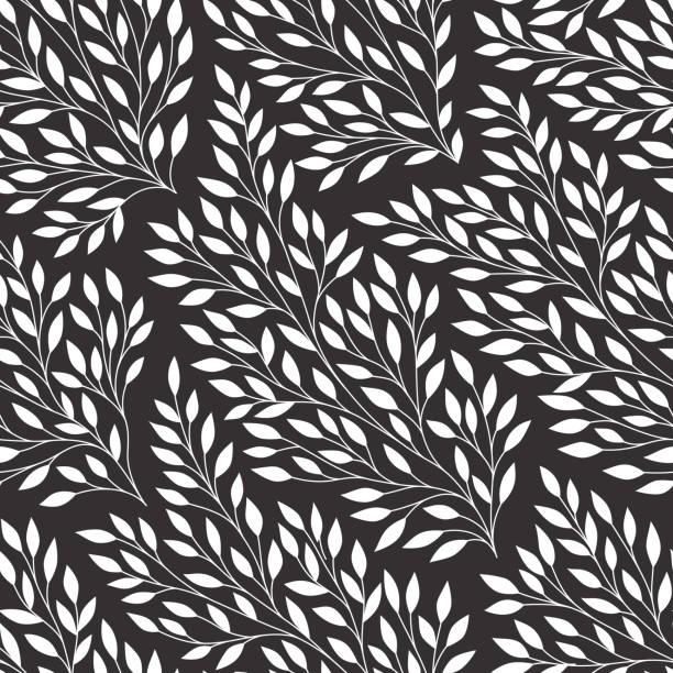 葉無縫的模式。 - 葉狀花紋 幅插畫檔、美工圖案、卡通及圖標