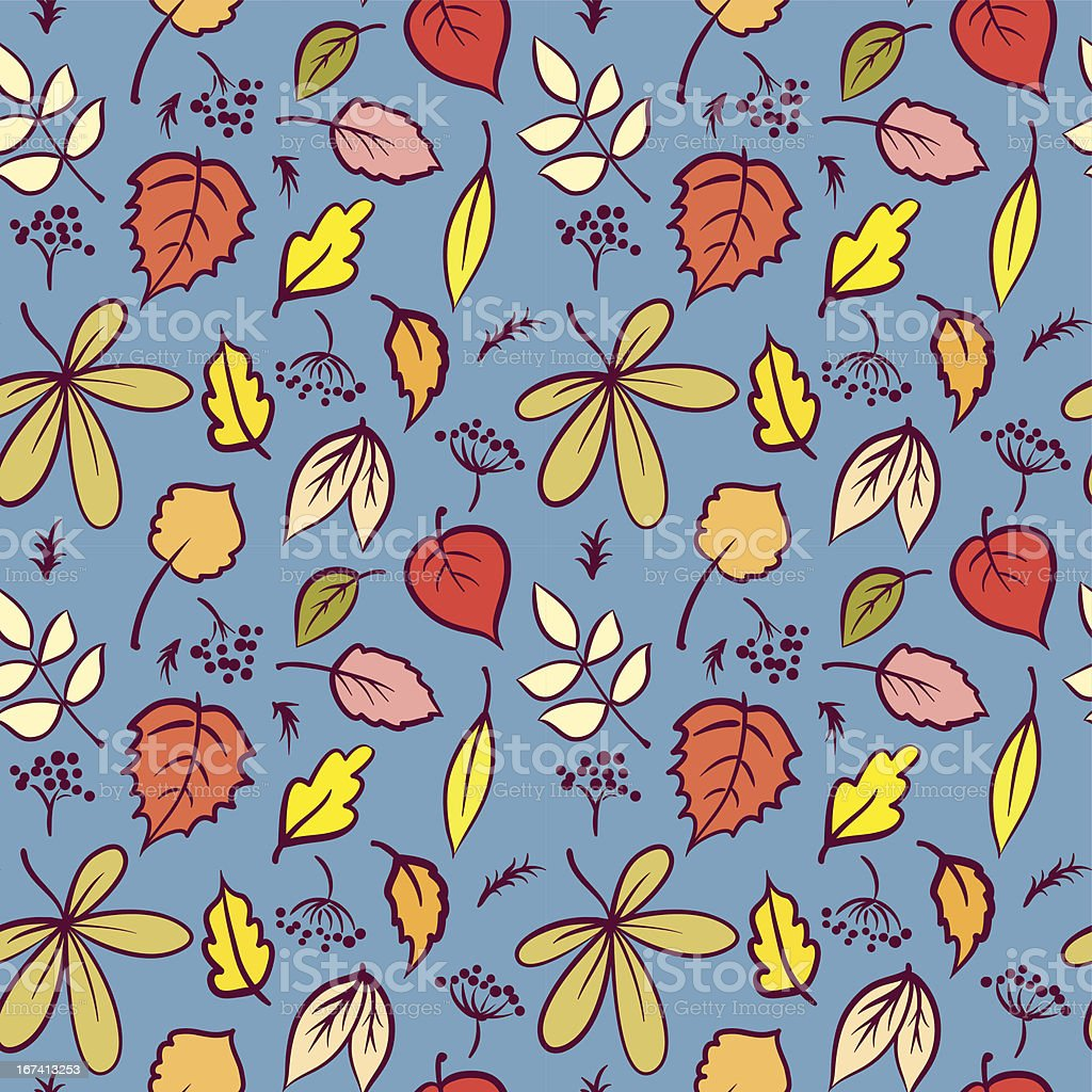 Leaves seamless pattern royalty-free leaves seamless pattern stock vector art & more images of autumn