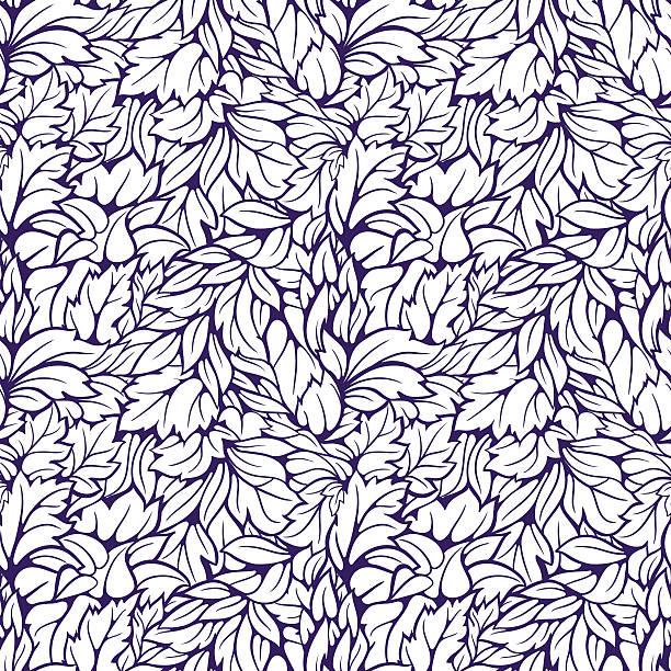 leaves seamless pattern - 葉狀花紋 幅插畫檔、美工圖案、卡通及圖標