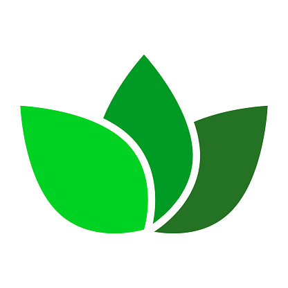 Leaves separated symbol icon sign