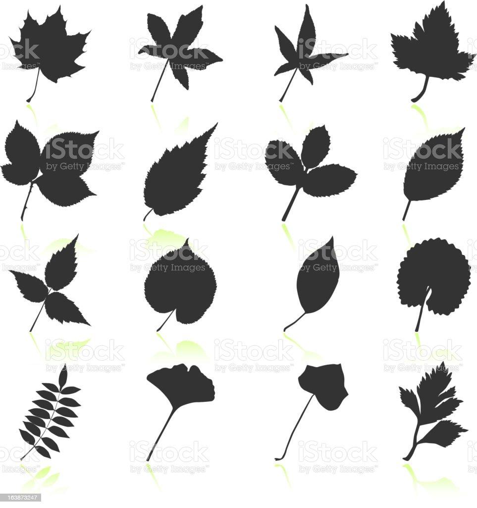 bl tter mit blumen schwarz und wei lizenzfreie vektor iconset stock vektor art und mehr bilder. Black Bedroom Furniture Sets. Home Design Ideas