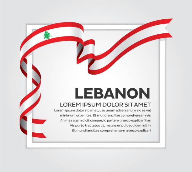 lebanon flag background - lebanon stock illustrations