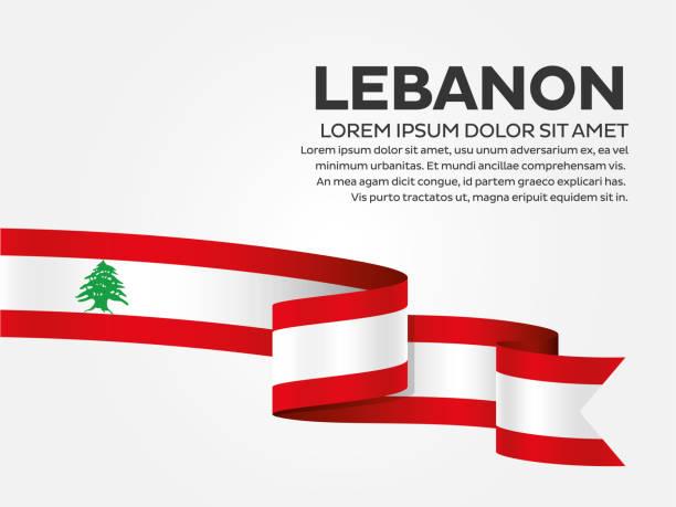 libanon flagge hintergrund - beirut stock-grafiken, -clipart, -cartoons und -symbole