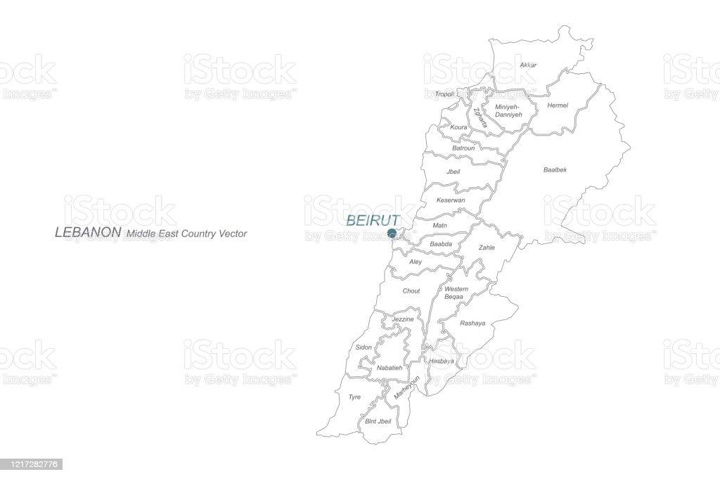 Cartina Del Libano.Mappa Del Libano Mappa Vettoriale Del Libano In Medio Oriente Immagini Vettoriali Stock E Altre Immagini Di Arabia Istock