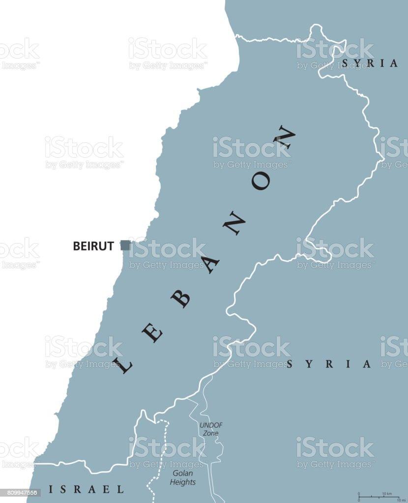 Lebanon Political Map stock vector art 809947556 iStock