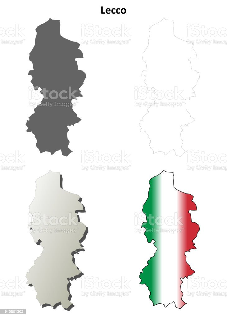 Lecco Blank Detailed Outline Map Set Stock Vector Art & More Images ...