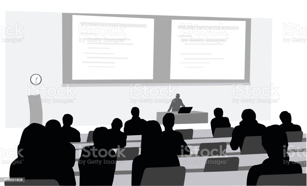 Lecture Room vector art illustration