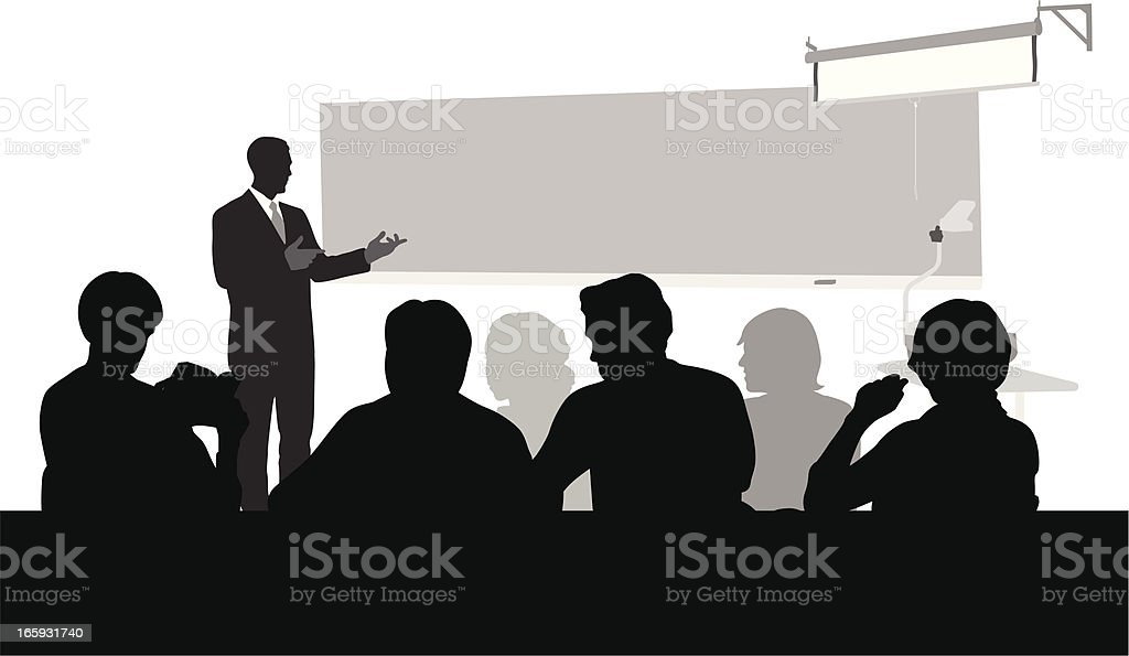Lecture Vector Silhouette royalty-free stock vector art