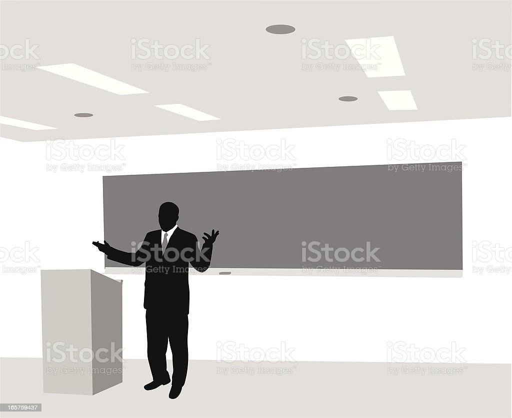 Lecturer Vector Silhouette vector art illustration