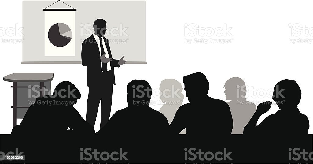 Lecturer Vector Silhouette royalty-free stock vector art