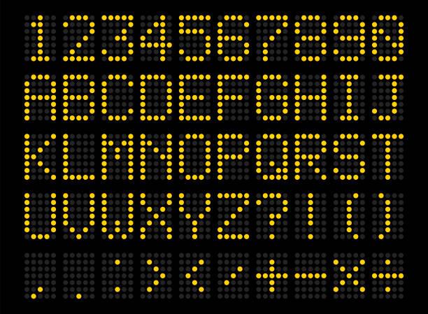 Alphabet numérique LED - Illustration vectorielle