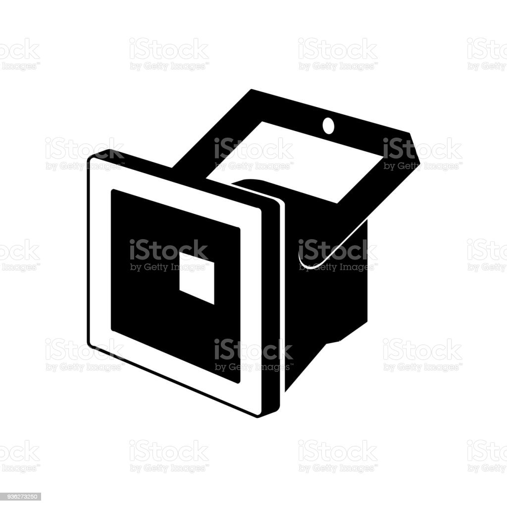 Landscape Lighting Icon: Led Floodlight Icon Vector Illustration Stock Vector Art