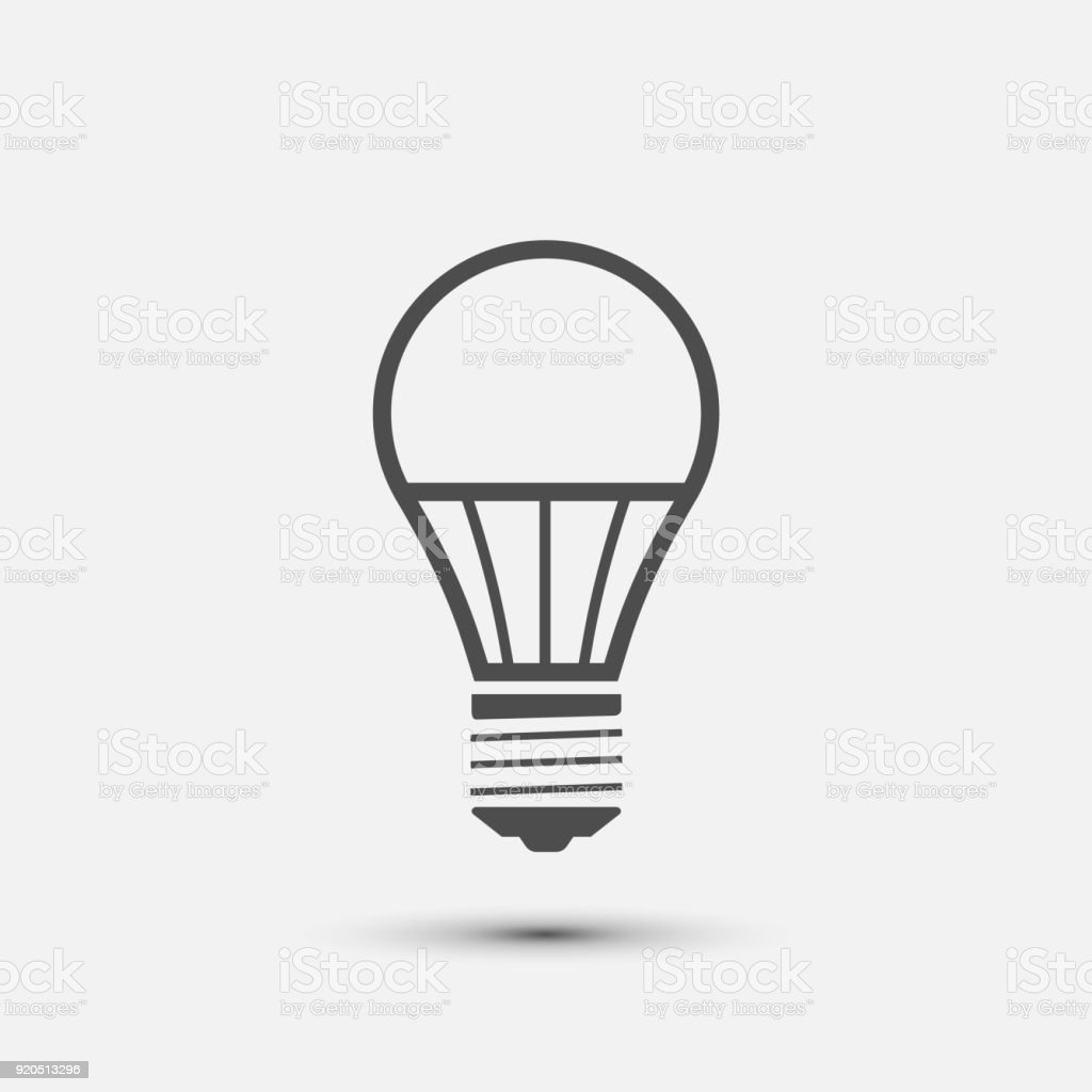Led Light Bulb Icon Vector Illustration Stock Vector Art & More ...