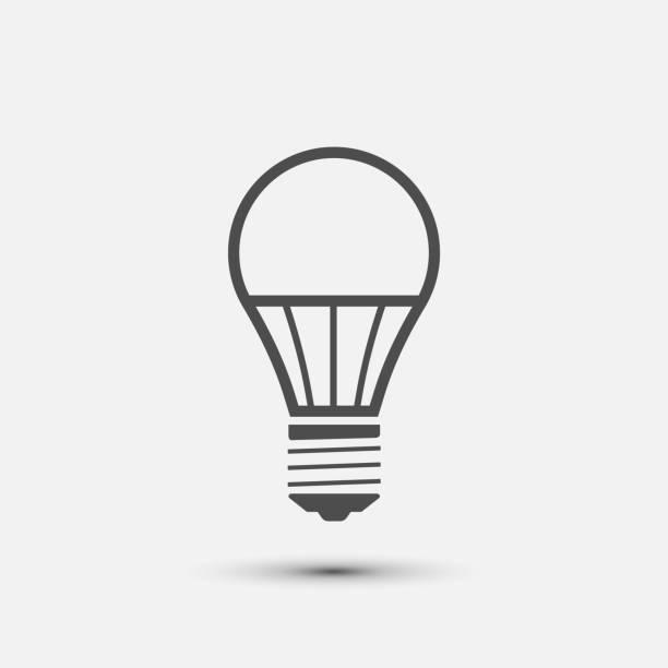 led glühbirnen-symbol. vektor-illustration. - led stock-grafiken, -clipart, -cartoons und -symbole