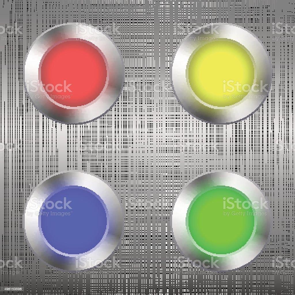 Led light bulb set. vector art illustration