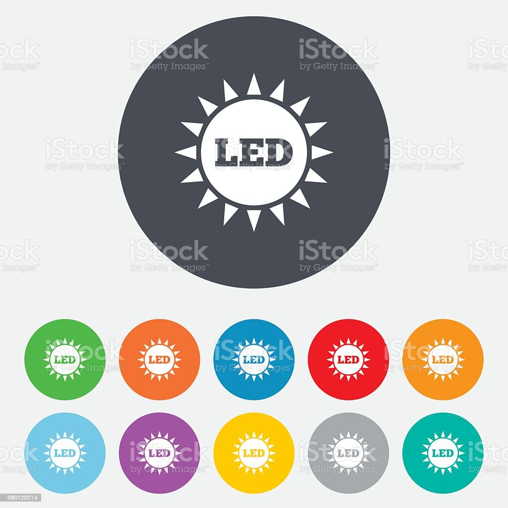 Led light sun icon energy symbol stock vector art 580120214 istock led light sun icon energy symbol royalty free stock vector art biocorpaavc Images