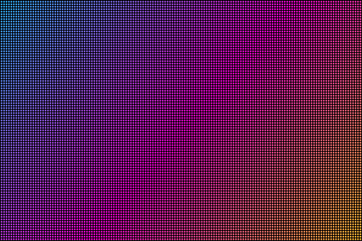Led screen. Dot RGB Background television. Vector stock illustration