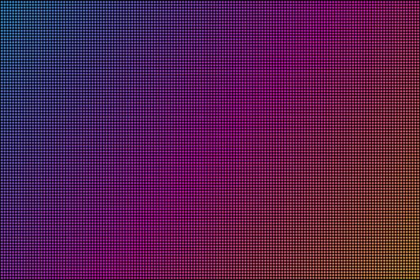 Led screen. Dot RGB Background television. Vector stock illustration. Led screen. Dot RGB Background television. Vector stock illustration close up stock illustrations