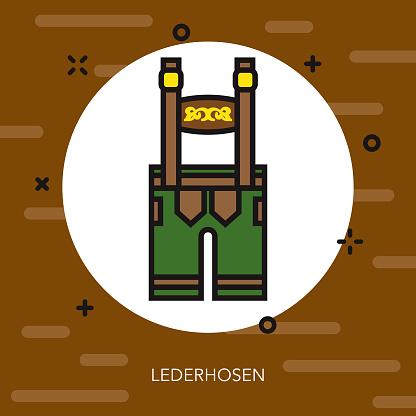 Lederhosen Thin Line Germany Icon