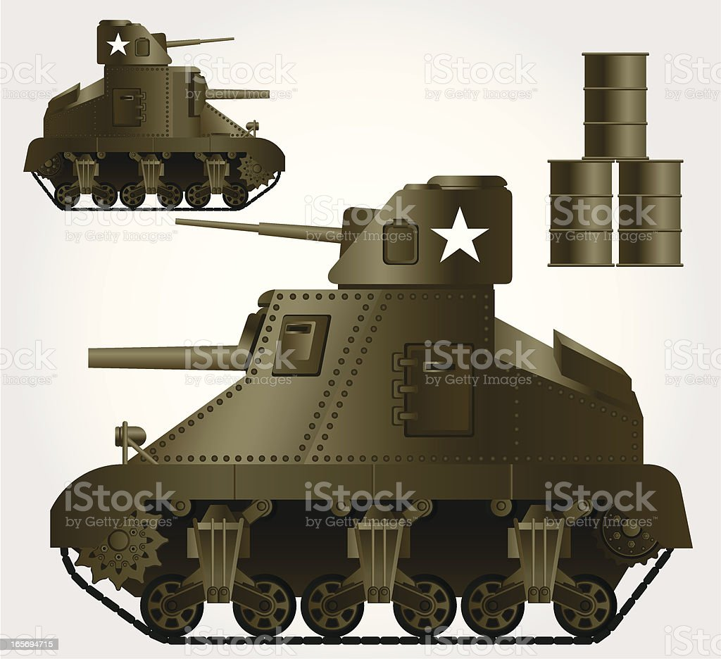 M3 Lee Tank royalty-free stock vector art