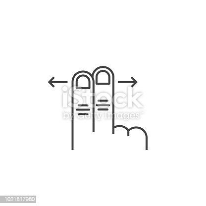 istock left and right two scroll finger 1021817980