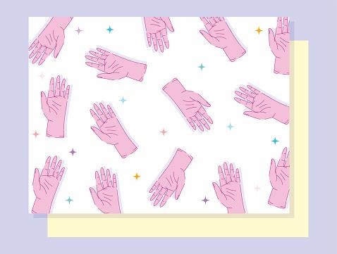 left handers day background hands showing five fingers gesture design