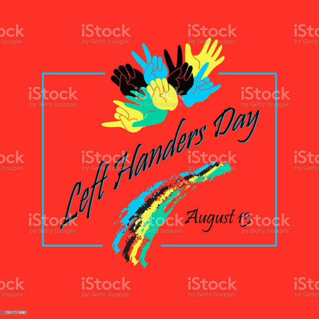 Left Handers Day stylish concept. Vector. vector art illustration