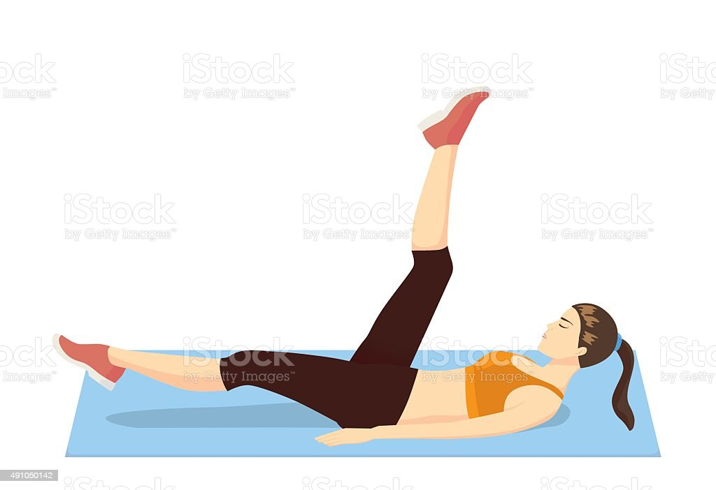 Leg swing exercise vector art illustration