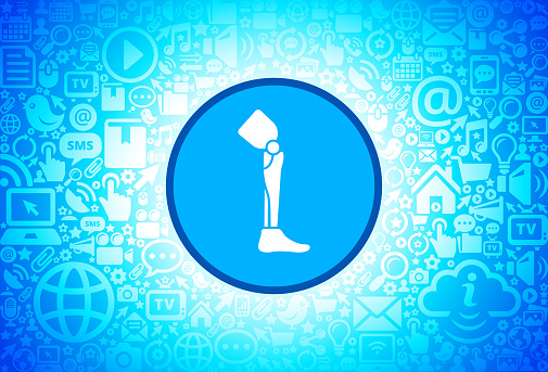Leg Transplant Icon on Internet Technology Background