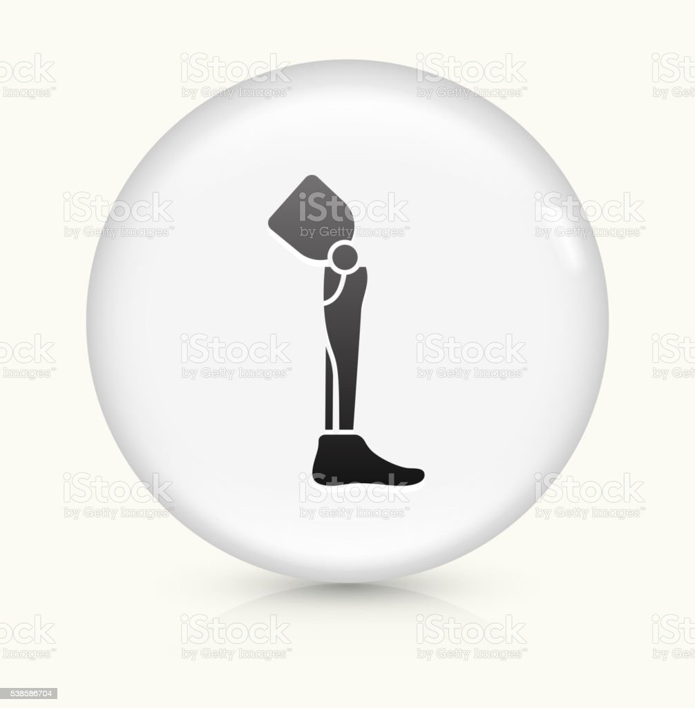 Leg Transplant icon on white round vector button vector art illustration