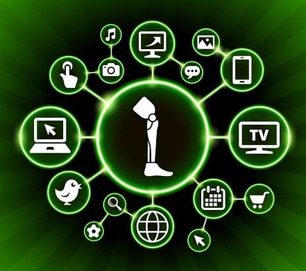 Leg Transplant Internet Communication Technology Dark Buttons Background