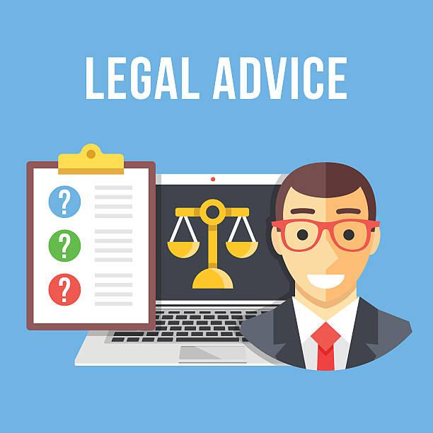 ilustrações, clipart, desenhos animados e ícones de consultoria jurídica. criativa projeto 2d ilustração vetorial - assistente jurídico