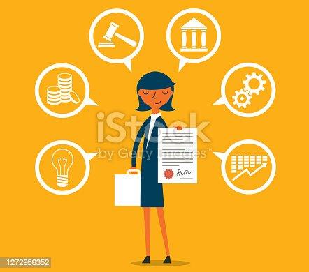istock Legal Advisor - Businesswoman 1272956352