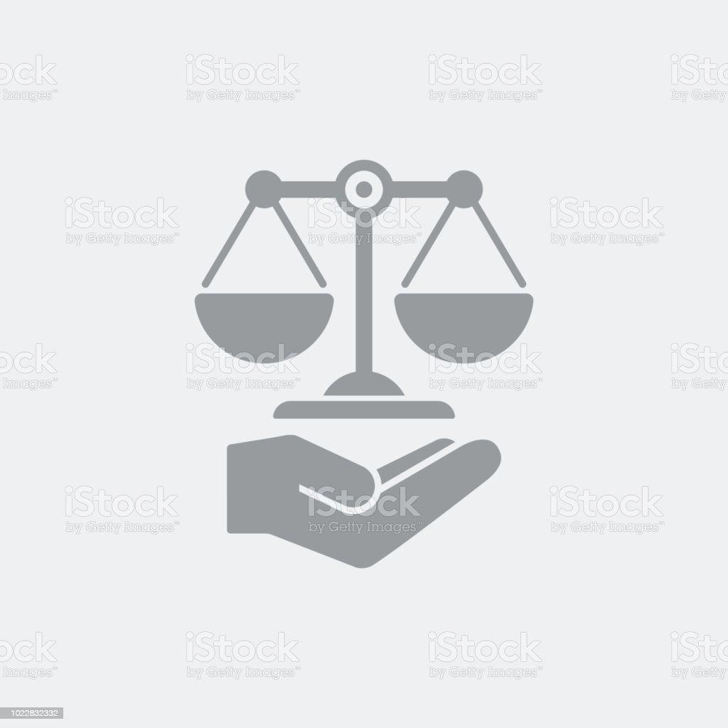 Ícone de serviço de assistência jurídica - ilustração de arte em vetor