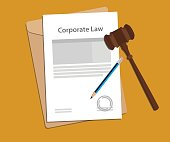 Legal concept of company law illustration