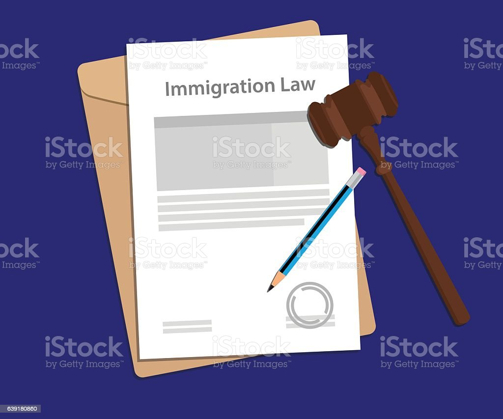Legal concept of immigration law illustration vector art illustration
