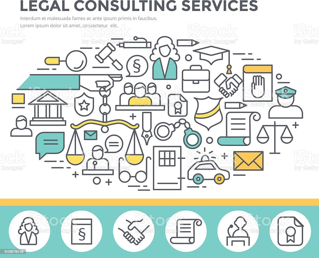 Legal consulting services concept illustration. vector art illustration