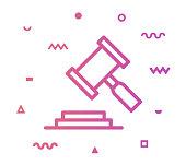 istock Legal Decision Line Style Icon Design 1155515178