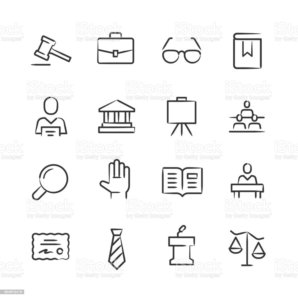 Legal Icons — Sketchy Series vector art illustration