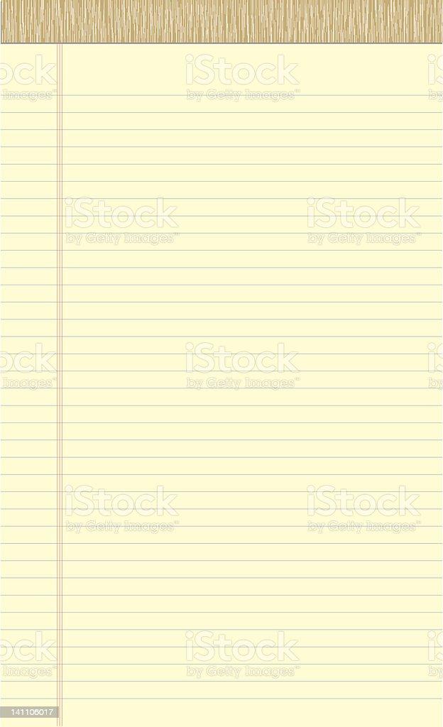 Rechtliche Pad die tatsächliche Größe – Vektorgrafik