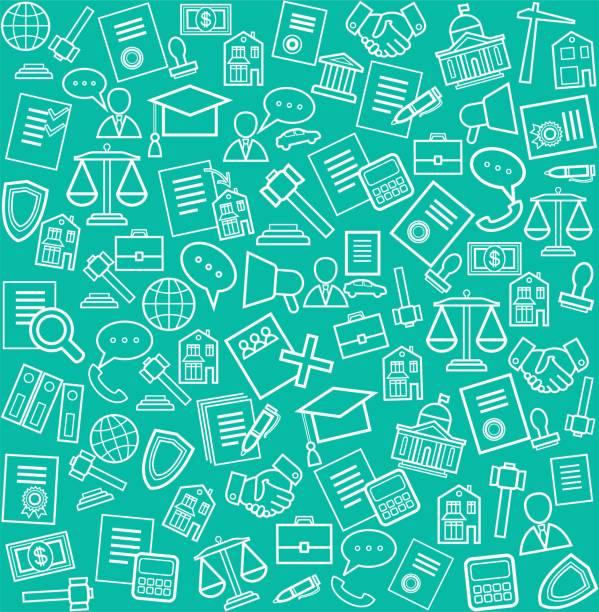 ilustrações, clipart, desenhos animados e ícones de serviços jurídicos, fundo verde. - assistente jurídico