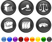 legal symbols royalty free vector icon set