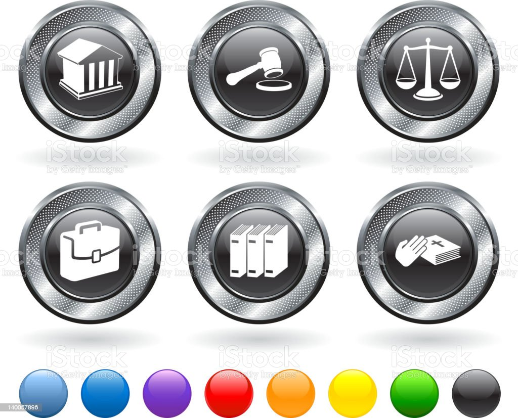 legal symbols royalty free vector icon set royalty-free stock vector art