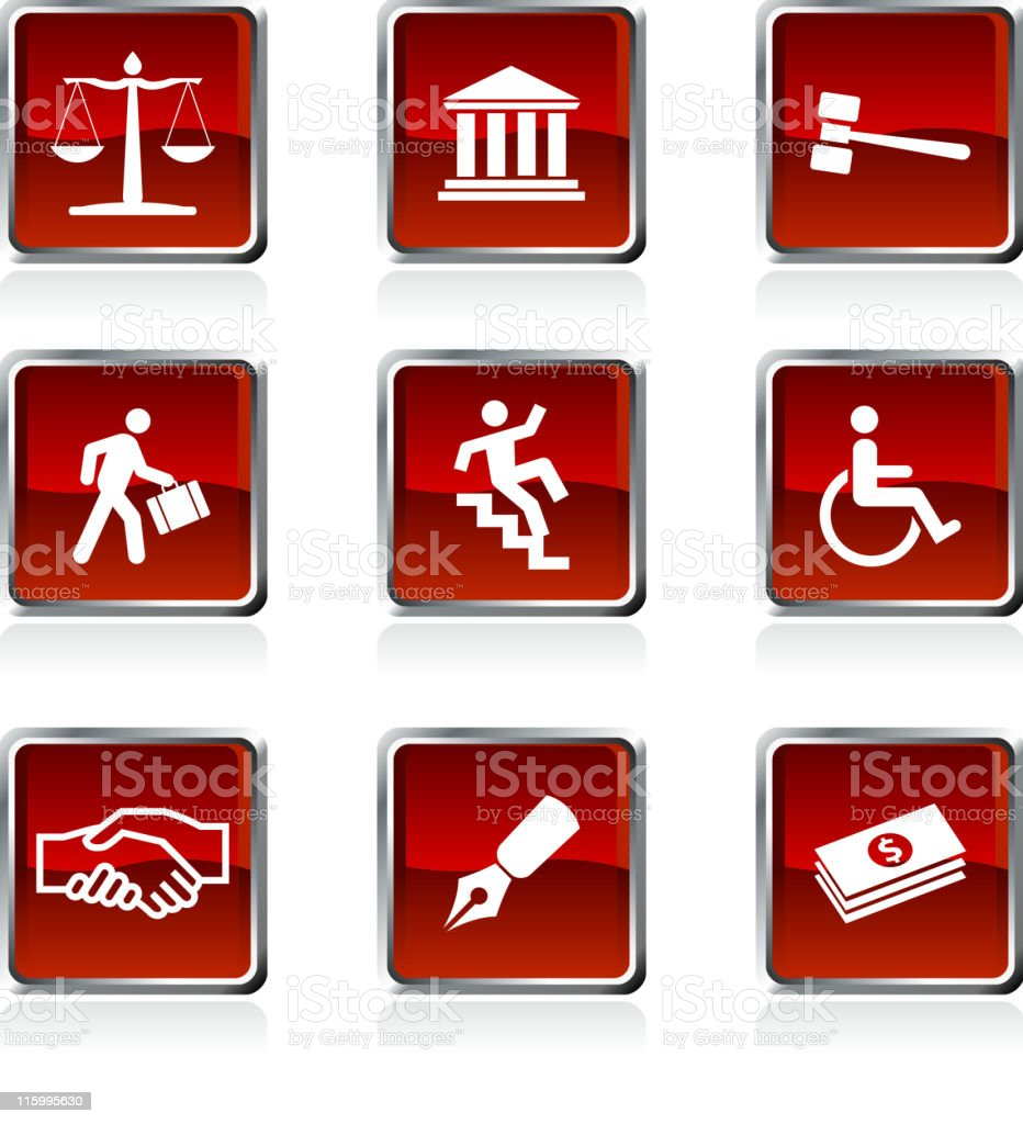 Legal system royalty free vector icon set royalty-free stock vector art