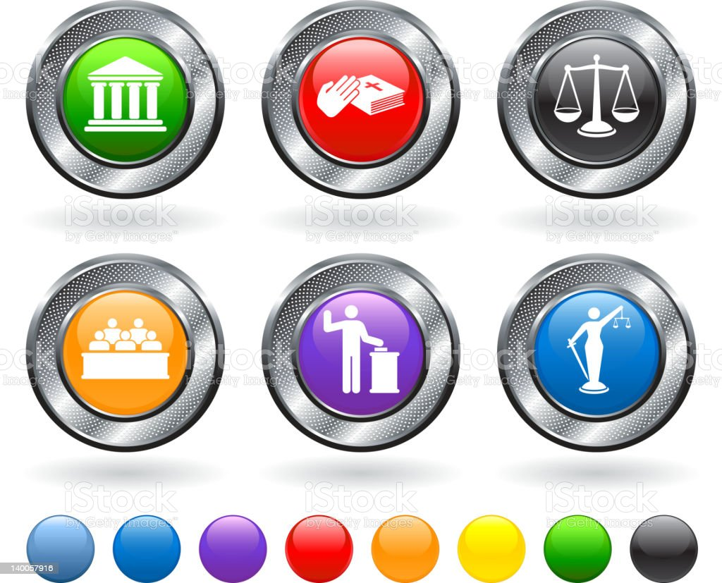 legal trial royalty free vector icon set royalty-free stock vector art