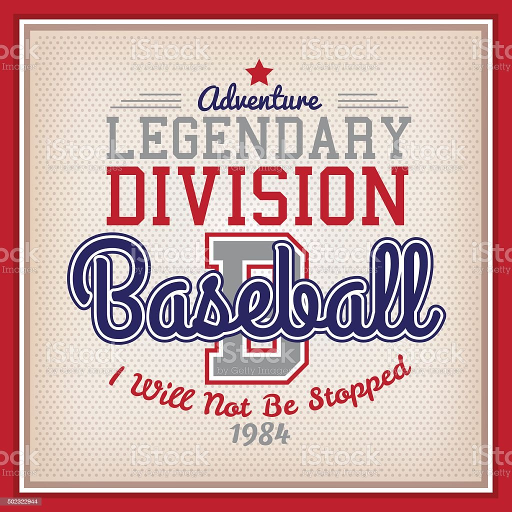 Legendary Division Baseball vector art illustration