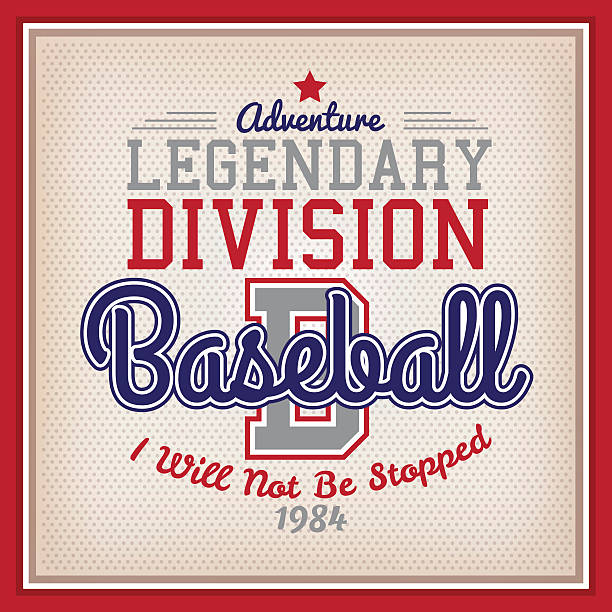 Legendary Division Baseball vector art illustration